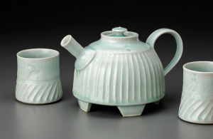 Celadon Teapot And Cups