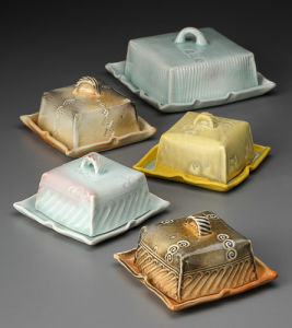 Covered Butter And Cheese Dishes