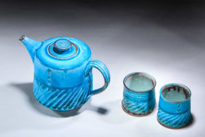 Blue Teapot and Cups