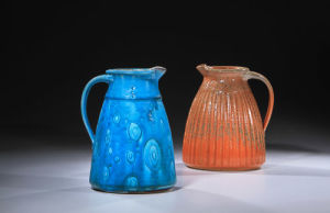 Blue and Red Pitchers