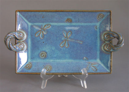 Small Rectangular Platter in Seafoam