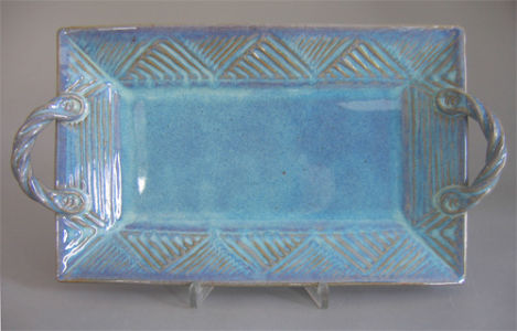 Large Rectangular Platter in Seafoam