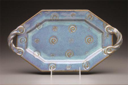 Octagonal Platter in Seafoam