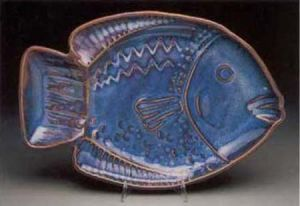 Fat Fish Platter in Plum Purple