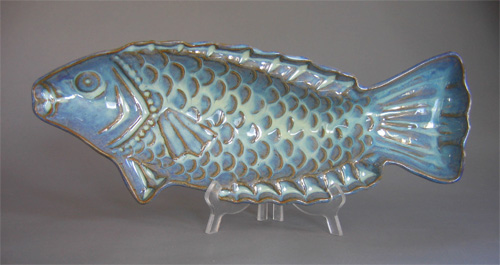 Skinny Fish Platter in Seafoam