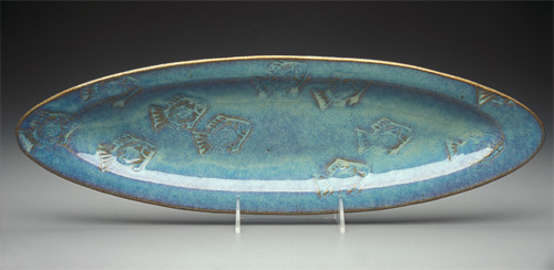 Medium Ellipse Platter in Seafoam