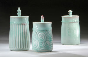 Three Lidded Jars