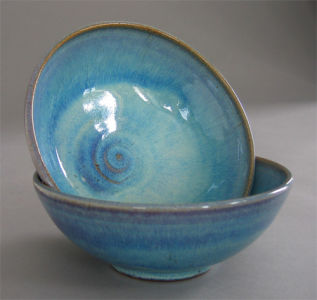 Small Bowls in Seafoam