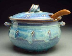 Large Soup Tureen in Seafoam