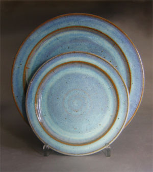 Dinner & Salad Plates in Seafoam