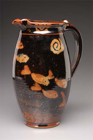 Large Pitcher in Tenmoku