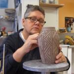 Beth Bell carving vase
