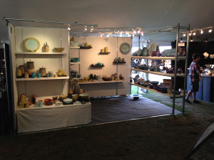 Iris' booth at Sunapee craft fair