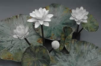 Lotus Pottery Piece by Iris