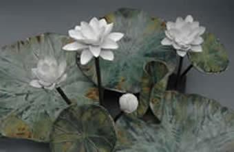 Lotus Pottery Piece by Iris